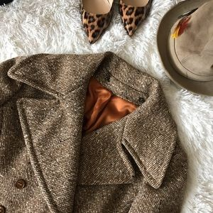Vintage John Meyer of Norwich Tweed Trench Coat